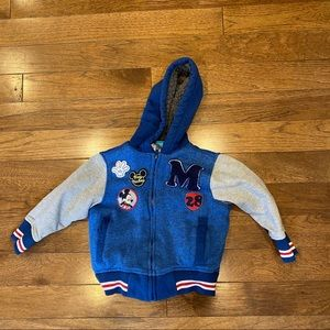 DISNEY MICKEY MOUSE TODDLER 2T VARSITY JACKET